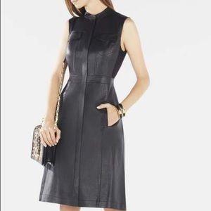 BCBG Allexandria Faux Leather Dress
